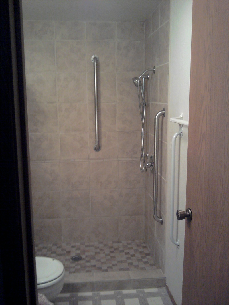 5 foot walk in tile shower