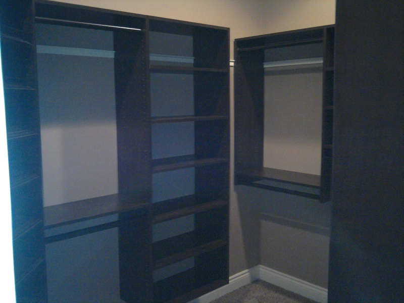 closet shelving espresso color
