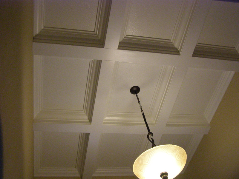 boxed beam entry cieling